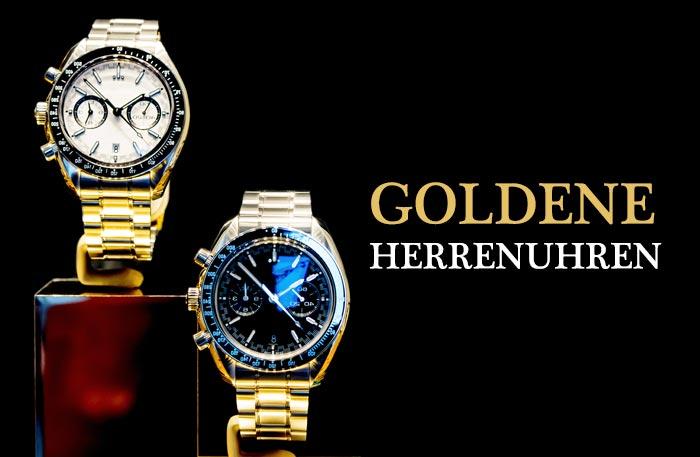 Herrenuhr Gold